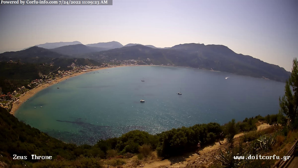 Afionas Corfu Webcam